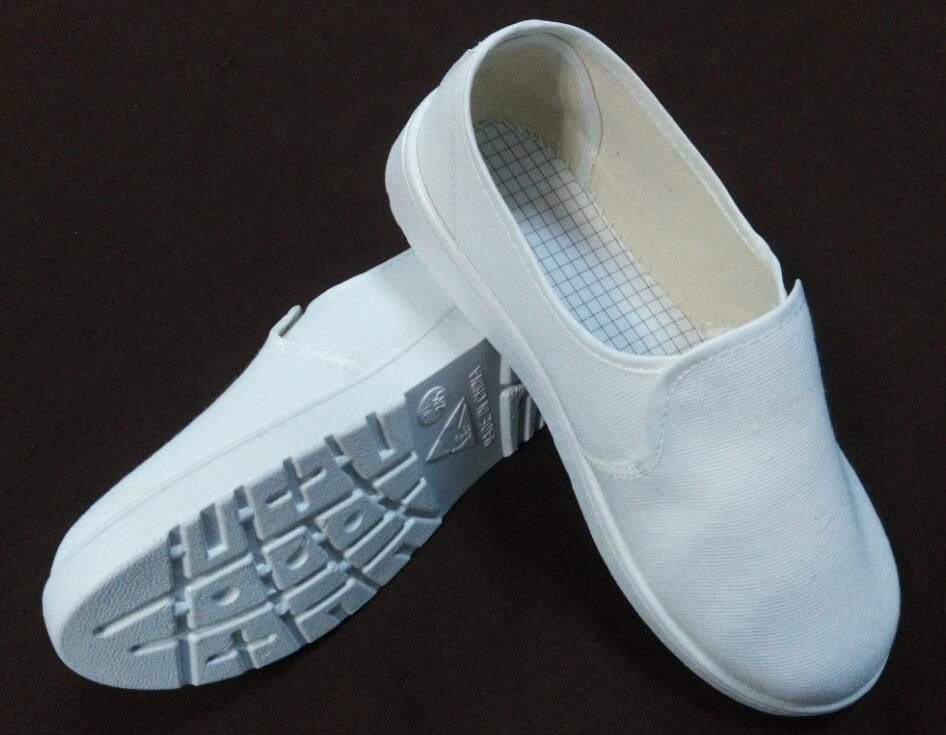 Customized White ESD Shoes , Easy Cleaning Rapid Drying ESD Cleanroom Shoes