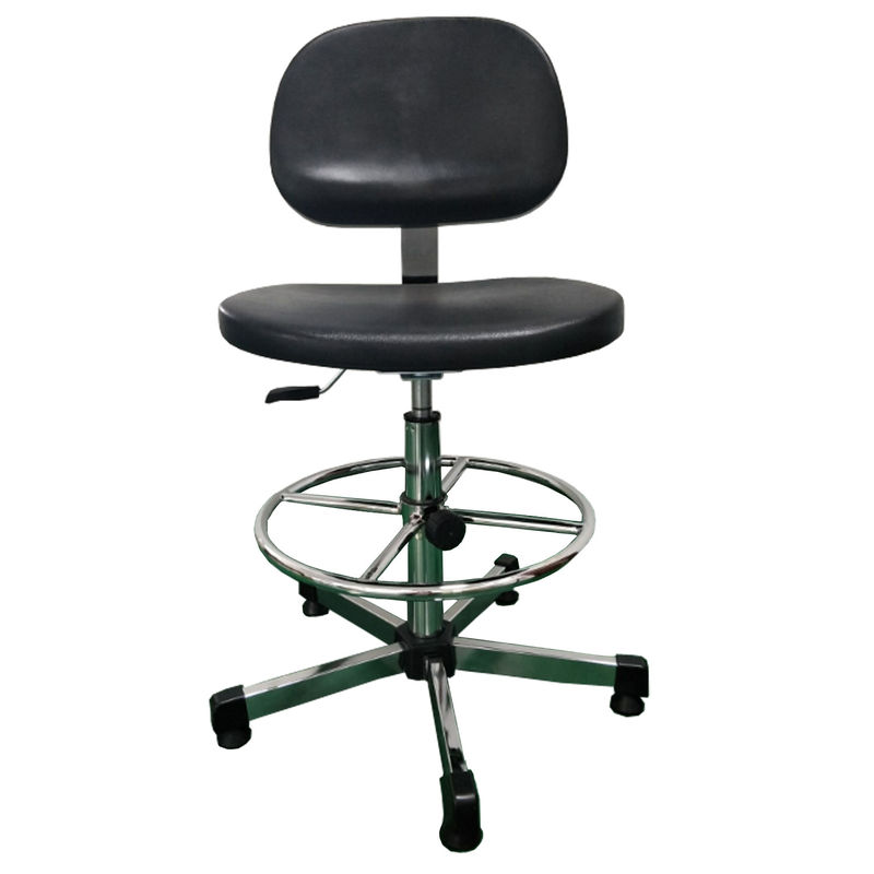 Comfortable ESD Cleanroom Chairs , Durable Safety Black Anti Static Chair PU Foam